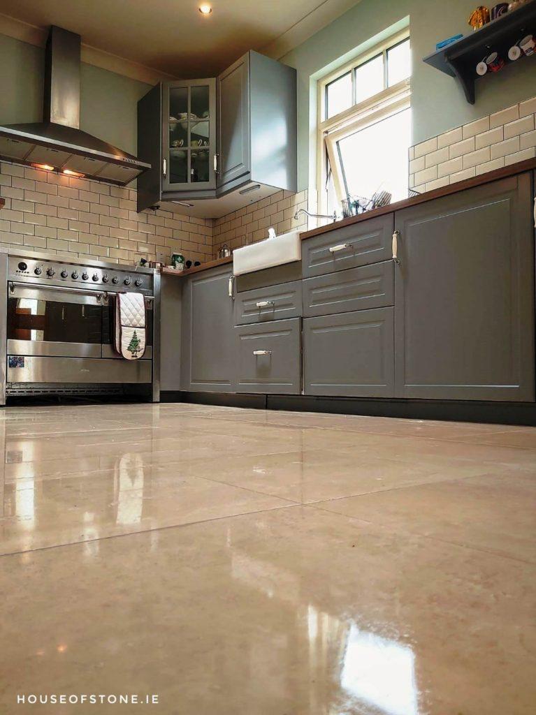 Shiny Travertine Floor